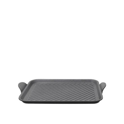 Piastra grill alluminio antiaderente cm 35x25 - ITALIKA PREMIUM