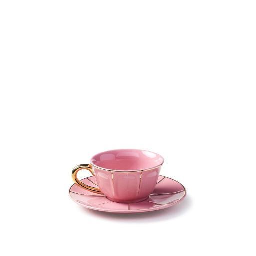 Tazza The C/Piatto rosa - La Tavola Scomposta
