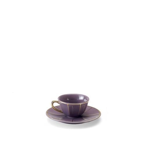 Tazza Caffè C/Piatto porpora - La Tavola Scomposta