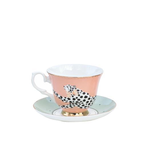 Tazza da Tè con piattino - Safari Cheetah