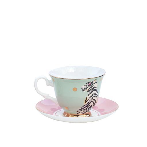 Tazza da Tè con piattino - Safari Tiger