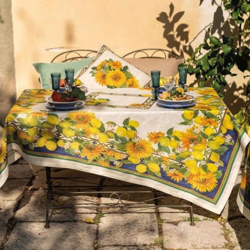 Etruscan Garden 100% LINO -  2 misure