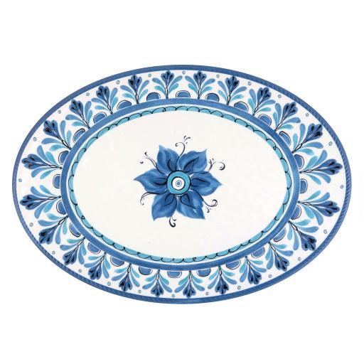 Vassoio Ovale - Havana Blu in melamina