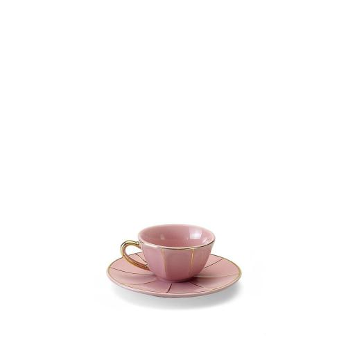 Tazza Caffè C/Piatto rosa - La Tavola Scomposta