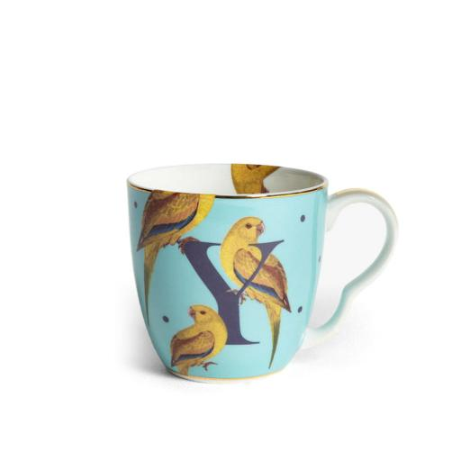 Tazza Alfabeto - Y yellow parrot