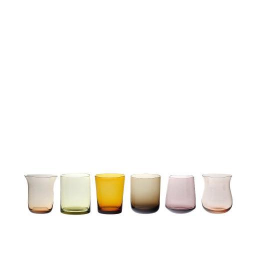 Set 6 Tumbler Forme Assortite ambra/rosa - Diseguale