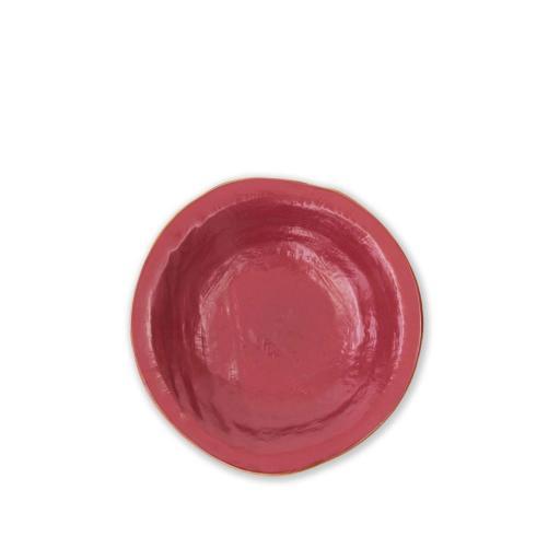 Piatto Fondo 4 pz - Mediterraneo Rosso Ciliegia
