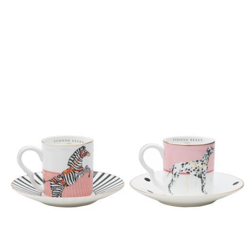 Tazzina da Caffè con piattino - Dog and Zebra