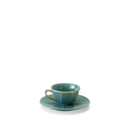 Tazza Caffè C/Piatto verde - La Tavola Scomposta
