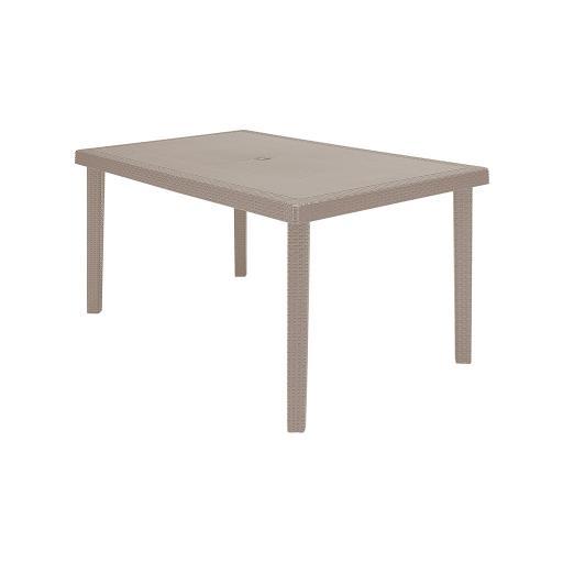 Tavolo rettangolare beige 150X90 cm BOHEME