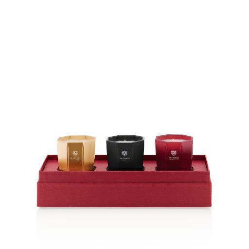 Gift Box Set 3 Candele - Rosso Nobile, Ambra e Melograno