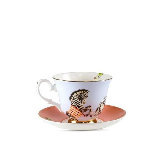 Tazza da Tè con piattino - Carnival Zebras
