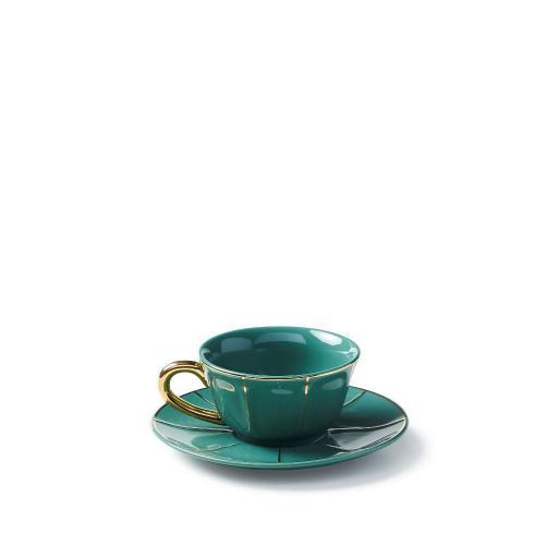 Tazza The C/Piatto verde - La Tavola Scomposta