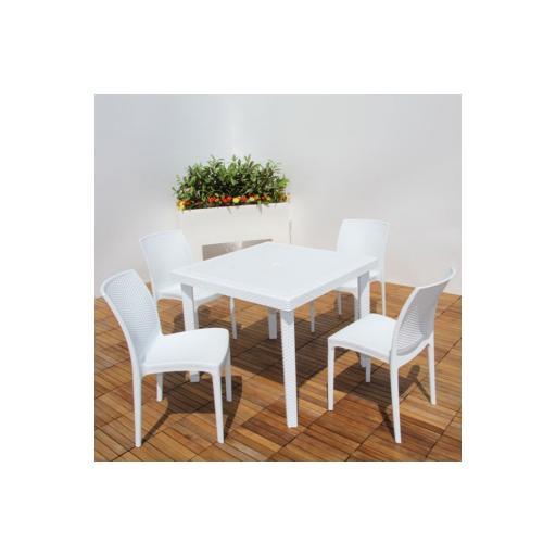 Tavolo quadrato bianco 80X80 cm BOHEME