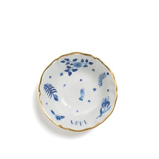 Coppetta decoro blu cm 15,5 -  La Tavola Scomposta