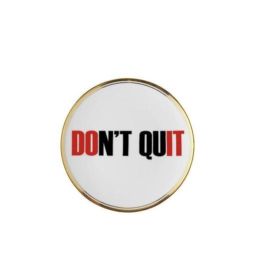 Piatto Don't Quit cm 17 -  La Tavola Scomposta
