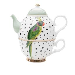 Tea for one - Parrot Polka Dots